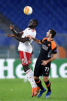 Amos Youga of PFS CSKA-Sofia and Henrikh Mkhitaryan of AS Roma compete for the ball during the Europa League Group Stage A football match between AS Roma and CSKA Sofia at stadio olimpico in Roma (Italy), October, 29th, 2020. Photo Andrea Staccioli / Insidefoto