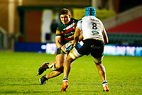 3rd January 2021; Welford Road Stadium, Leicester, Midlands, England; Premiership Rugby, Leicester Tigers versus Bath Rugby; Jasper Wiese of Leicester Tigers looks to beat Zach Mercer of Bath Rugby