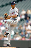 10 September 2006: Beltran Perez, pitcher for the Washington Nationals, on the mound against the Colorado Rockies. The Rockies defeated the Nationals 13-9 at Coors Field in Denver, Colorado...Mandatory Photo Credit: Ed Wolfstein.