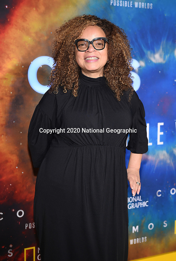"""LOS ANGELES - FEBRUARY 26: Ruth E. Carter attends National Geographic's 2020 Los Angeles premiere of """"Cosmos: Possible Worlds"""" at Royce Hall on February 26, 2020 in Los Angeles, California. Cosmos: Possible Worlds premieres Monday, March 9 at 8/7c on National Geographic. (Photo by Frank Micelotta/National Geographic/PictureGroup)"""