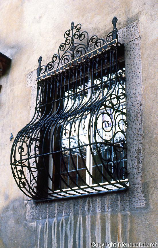 Schwabisch Hall: Window , grill detail.