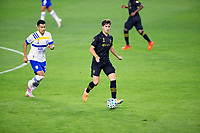 LOS ANGELES, CA - SEPTEMBER 02: Francisco Ginella #8 of the LAFC moves with the ball during a game between San Jose Earthquakes and Los Angeles FC at Banc of California stadium on September 02, 2020 in Los Angeles, California.
