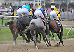 09 May 16:  Calvin Borel rides filly Rachel Alexandra (right) to victory in the 134th running of the grade 1 Preakness Stakes for three year olds at Pimlico Race Track in Baltimore, Maryland.