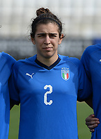 20180302 - LARNACA , CYPRUS : Italian Valentina Bergamaschi pictured during a women's soccer game between Italy and Wales , on friday 2 March 2018 at GSZ Stadium in Larnaca , Cyprus . This is the second game in group A for Italy and Wales during the Cyprus Womens Cup , a prestigious women soccer tournament as a preparation on the World Cup 2019 qualification duels. PHOTO SPORTPIX.BE | DAVID CATRY