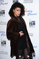 "Lianne Le Havas<br /> arriving for the London Film Festival 2017 screening of ""Loving Vincent"" at the National Gallery, Trafalgar Square, London<br /> <br /> <br /> ©Ash Knotek  D3328  09/10/2017"