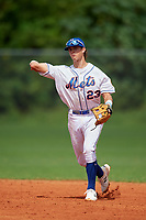 Peyton Basler (23) during the WWBA World Championship at Lee County Player Development Complex on October 10, 2020 in Fort Myers, Florida.  Peyton Basler, a resident of Lansing, Kansas who attends Lansing High School, is committed to Charleston Southern.  (Mike Janes/Four Seam Images)