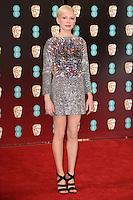 Michelle Williams<br /> at the 2017 BAFTA Film Awards held at The Royal Albert Hall, London.<br /> <br /> <br /> ©Ash Knotek  D3225  12/02/2017