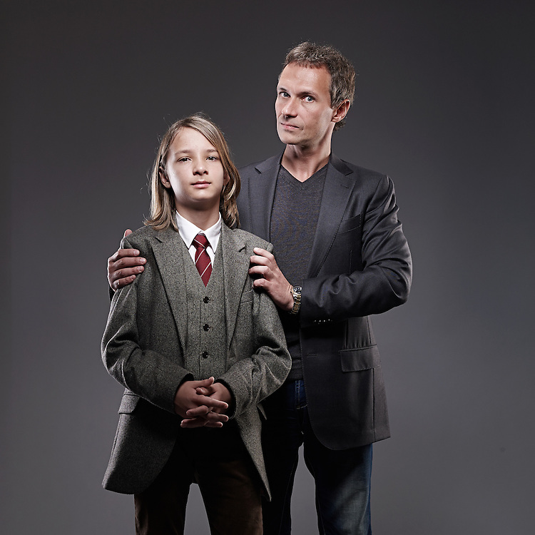 © John Angerson  <br /> 140108 - Times Magazine - Russian Education feature<br /> Oleg Aged 8 and his Father Nikita