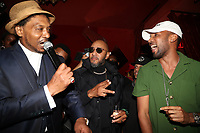 NEW YORK, NY- SEPTEMBER 12: Super Cat, Swizz Beatz and Baby Cham pictured at Swizz Beatz Surprise Birthday Party at Little Sister in New York City on September 12, 2021. <br /> CAP/MPI/WG<br /> ©WG/MPI/Capital Pictures