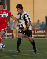 Rochester Rhinos midfielder Michael Tanke (27) passes the ball. In a Third Round U.S. Open Cup match, the Chicago Fire defeated the Rochester Rhinos, 1-0, at Sahlens Stadium on June 28, 2011.