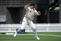 Rachin Ravindra fields during day two of the Plunket Shield match between the Wellington Firebirds and Canterbury at Basin Reserve in Wellington, New Zealand on Tuesday, 20 October 2020. Photo: Dave Lintott / lintottphoto.co.nz