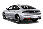 Car pictures of rear three quarter view of a 2019 Peugeot 508 GT 5 Door Hatchback angular rear