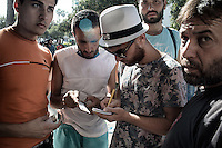identity check to avoid the long wait for those who have some ID.  Kos, Greece. Sept. 5, 2015