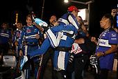 Takuma Sato, Rahal Letterman Lanigan Racing Honda leaps into the arms of his crew