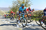 The peloton including Omar Fraile (ESP) Astana-Premier Tech climb La Redoute during the 107th edition of Liege-Bastogne-Liege 2021, running 259.1km from Liege to Liege, Belgium. 25th April 221.  <br /> Picture: Serge Waldbillig | Cyclefile<br /> <br /> All photos usage must carry mandatory copyright credit (© Cyclefile | Serge Waldbillig)