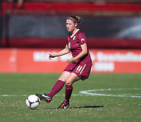 Isabella Schmid (11) of Florida State passes the ball during the game at Ludwing Field in College Park, MD.  Florida State defeated Maryland, 1-0.