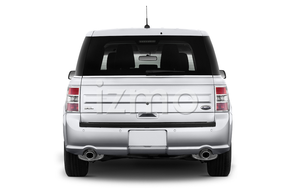 Straight rear view of a 2018 Ford Flex SEL