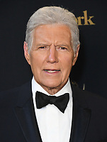 "08 November 2020 - Longtime ""Jeopardy!"" host Alex Trebek, died on Sunday at the age of 80 following a battle with pancreatic cancer. File Photo: 05 May 2019 - Pasadena, California - Alex Trebek. 46th Annual Daytime Emmy Awards - Press Room held at Pasadena Civic Auditorium. Photo Credit: Birdie Thompson/AdMedia"