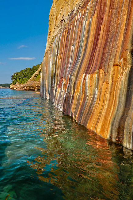 Mineral painted cliffs portrait, Pictured Rocks National Lakeshore
