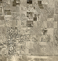historical aerial photograph Lancaster, Los Angeles county, California, 1948