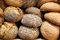 Nederland - Amsterdam - Januari 2019. HORECAVA.  Bolletjes brood. Foto Berlinda van Dam / Hollandse Hoogte