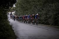 Peloton chasing the break away group.<br /> <br /> 78th Euro Metropole Tour 2018<br /> La Louvière – Tournai (BEL): 206km