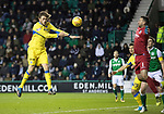 Hibs v St Johnstone…18.11.17…  Easter Road…  SPFL<br />Murray Davidson heads saints into the lead<br />Picture by Graeme Hart. <br />Copyright Perthshire Picture Agency<br />Tel: 01738 623350  Mobile: 07990 594431