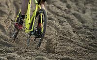 Plowing in the sand. <br /> <br /> Men's Elite Race<br /> Belgian National Cyclocross Championships 2018 / Koksijde