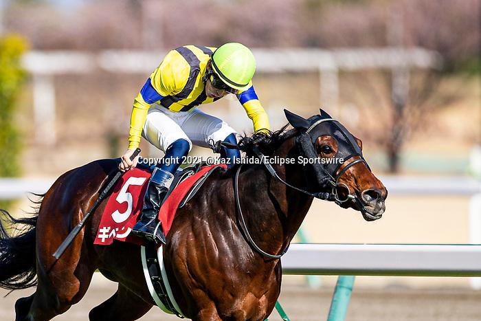 TOYOAKE,JAPAN-MAR 14: Gibeon,ridden by Atsuya Nishimura,wins the Kinko Sho at Chukyo Racecourse on March 14,2021 in Toyoake,Aichi,Japan. Kaz Ishida/Eclipse Sportswire/CSM