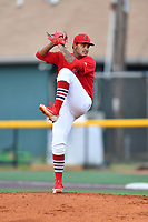 Johnson City Cardinals starting pitcher Alvaro Seijas (22) delivers a pitch during a game against the Danville Braves at TVA Credit Union Ballpark on July 23, 2017 in Johnson City, Tennessee. The Cardinals defeated the Braves 8-5. (Tony Farlow/Four Seam Images)
