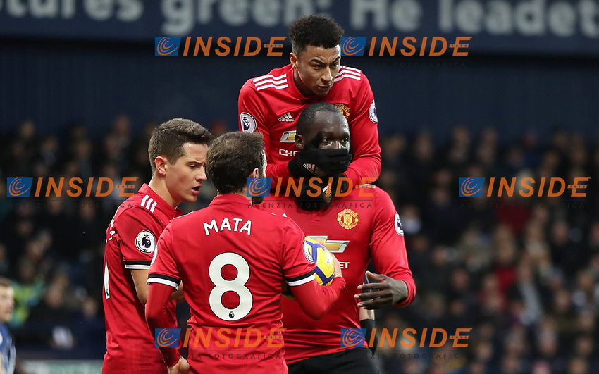 Football - 2017 / 2018 Premier League - West Bromwich Albion vs. Manchester United ManU Romelu Lukaku of Manchester United celebrates scoring at The Hawthorns. COLORSPORT/LYNNE CAMERON PUBLICATIONxNOTxINxUK  <br /> Premier League 2017/2018 <br /> Foto Imago / Insidefoto