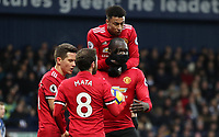 Football - 2017 / 2018 Premier League - West Bromwich Albion vs. Manchester United ManU Romelu Lukaku of Manchester United celebrates scoring at The Hawthorns. COLORSPORT/LYNNE CAMERON PUBLICATIONxNOTxINxUK  <br /> Premier League 2017/2018 <br /> Foto Imago / Insidefoto