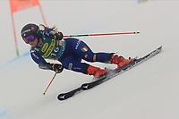 17th October 2020, Rettenbachferner, Soelden, Austria; FIS World Cup Alpine Skiing ladies downhill; Sofia Goggia (ITA) in foggy conditions