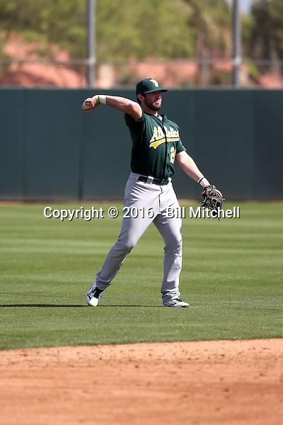 Mikey White - Oakland Athletics 2016 spring training (Bill Mitchell)
