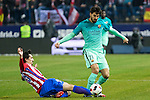 Atletico de Madrid's defender Stefan Savic (L) and FC Barcelona's midfielder Andre Gomes (R) competes for the ball with  during the match of Copa del Rey between Atletico de  Madrid and Futbol Club Barcelona at Vicente Calderon Stadium in Madrid, Spain. February 1st 2017. (ALTERPHOTOS/Rodrigo Jimenez)