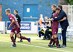 Queen of the South v St Johnstone…18.08.18…  Palmerston    BetFred Cup<br />Matty Kennedy gets a well done hug from manager Tommy Wright ash e his replaced by Ali McCann<br />Picture by Graeme Hart. <br />Copyright Perthshire Picture Agency<br />Tel: 01738 623350  Mobile: 07990 594431