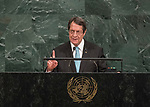 72 General Debate – 20 September <br /> <br /> His Excellency Nicos Anastasiades, President of the Republic of Cyprus