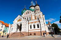 Estonia, Tallinn, Old town, UNESCO World Heritage Site. St. Alexander Nevsky Cathedral, Russian Orthodox.