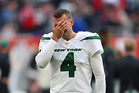 10th October 2021; Tottenham Hotspur stadium, London, England; NFL UK Series, Atlanta Falcons versus New York Jets: A dejected New York Jets Special Teams Thomas Morstead (4)