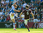 Hearts v St Johnstone...04.08.12.Rowan Vine and Andy Webster.Picture by Graeme Hart..Copyright Perthshire Picture Agency.Tel: 01738 623350  Mobile: 07990 594431