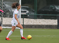 Amber Tysiak (3) of OH Leuven pictured during a female soccer game between Oud Heverlee Leuven and Eendracht Aalst on the second matchday of the 2021 - 2022 season of Belgian Womens Super League , sunday 29 nd of August 2021  in Heverlee , Belgium . PHOTO SPORTPIX.BE   JILL DELSAUX