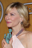 LOS ANGELES, CA - JANUARY 18: Cate Blanchett in the press room at the 20th Annual Screen Actors Guild Awards held at The Shrine Auditorium on January 18, 2014 in Los Angeles, California. (Photo by Xavier Collin/Celebrity Monitor)