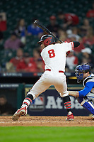 Drew Minter (8) of the Houston Cougars at bat against the Kentucky Wildcats in game two of the 2018 Shriners Hospitals for Children College Classic at Minute Maid Park on March 2, 2018 in Houston, Texas.  The Wildcats defeated the Cougars 14-2 in 7 innings.   (Brian Westerholt/Four Seam Images)