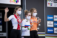 Anna van der Breggen (NED/Boels-Dolmans) is the new women's TT World Champion<br /> Silver goes to Marlen Reusser (SUI) & bronze towards Ellen van Dijk (NED/Trek-Segafredo).<br /> <br /> Women Elite Time trial from Imola to Imola (31.7km)<br /> <br /> 87th UCI Road World Championships 2020 - ITT (WC)<br /> <br /> ©kramon