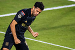 Carlos Vela of Los Angeles FC (USA) celebrates after scoring his first goal against Club America (MEX) during their CONCACAF Champions League Semi Finals match at the Orlando's Exploria Stadium on 19 December 2020, in Florida, USA. Photo by Victor Fraile / Power Sport Images