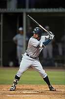 AZL Padres 1 left fielder Tyler Benson (30) at bat during an Arizona League game against the AZL Cubs 1 at Sloan Park on July 5, 2018 in Mesa, Arizona. The AZL Cubs 1 defeated the AZL Padres 1 3-1. (Zachary Lucy/Four Seam Images)