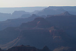 Hazy, backlit day at the South Rim of Grand Canyon National Park, Arizona .  John offers private photo tours in Grand Canyon National Park and throughout Arizona, Utah and Colorado. Year-round.