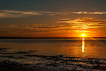 Sunrise over the lagoon. Christmas Island (Kiritimati), Kiribati