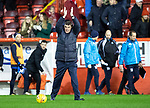 Aberdeen v St Johnstone…08.12.18…   Pittodrie    SPFL<br />Tommy Wright applauds the fans at full time<br />Picture by Graeme Hart. <br />Copyright Perthshire Picture Agency<br />Tel: 01738 623350  Mobile: 07990 594431