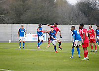 8th November 2020; SkyEx Community Stadium, London, England; Football Association Cup, Hayes and Yeading United versus Carlisle United; Amos Nasha of Hayes & Yeading United shoots and scores his sides 2nd goal in the 108th minute to make it 2-0